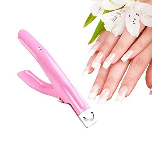 - New Edge Nail Art Manicure Acrylic Gel False Tips Clipper Cutter Nail Scissors (Color - Pink)