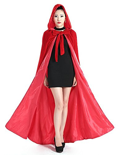 (New Deve Newdeve Medieval Velvet Cloak Full Length With Hood Cosplay Costume Cape For)