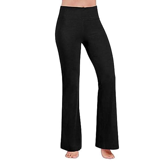8a526a783a832 Sunyastor Women Boot Cut Yoga Pants Stretch Bootleg High Waisted Tummy  Control Workout Leggings Long Bootleg
