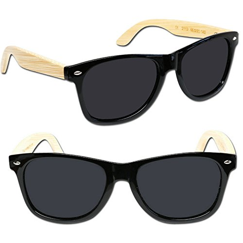 With soleil Love Eye de Temples Black Bamboo Shiny Lunettes Homme wZ60CRq