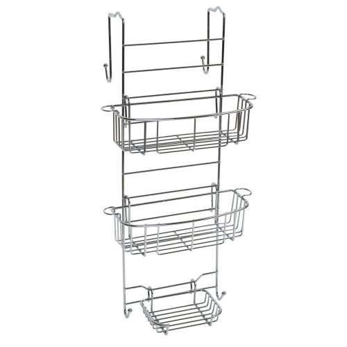 - Zenna Home E7803STBB, Over-the-Shower Door Caddy, Stainless Steel