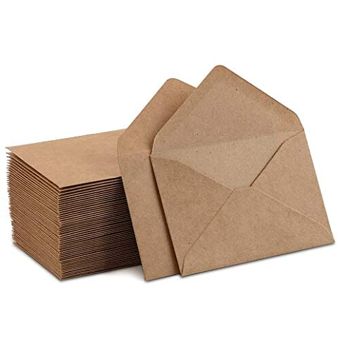Kraft Mini Envelopes Brown Kraft Envelopes for Gift Cards and Business Cards (4