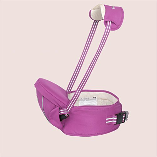 Baby Carrier Breathable Hip seat carrier Ergonomic design Front-style with Detachable Seat Strap Adjustable Newborns Portable Multifunction Backpack carrier , purple