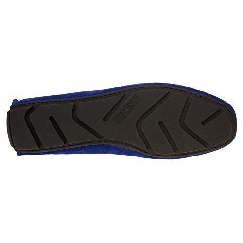 Moschino Logo Rijden Mannen Schoenen Blauw Blauw