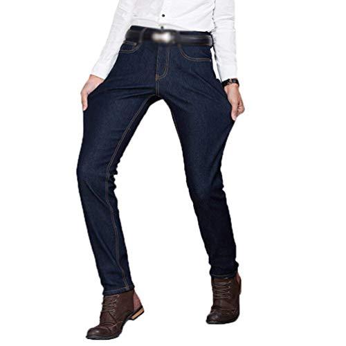Vintage Elasticizzato Velluto Jeans Fit Estilo Elastico Di Slim Casual A Coste Con Pantaloni Moda Uomo Da Especial Blaublack 7qwZq