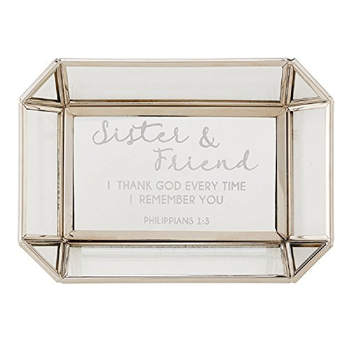 AT001 Sister/Friend - Philippians 1:3 Tabletop Tray, 7'' X 5''. by AT001