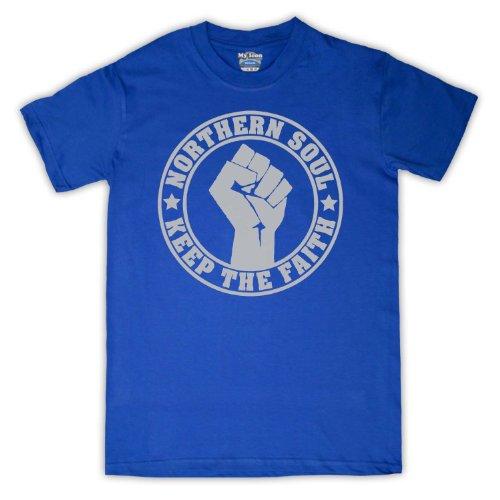 Northern Soul Keep The Faith para hombre T-Shirt azul real