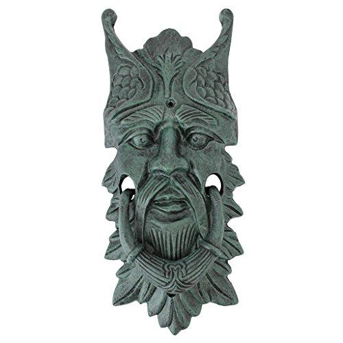 Design Toscano Castle Gladstone Greenman Cast Iron Door Knocker, (Hand Door Knocker)
