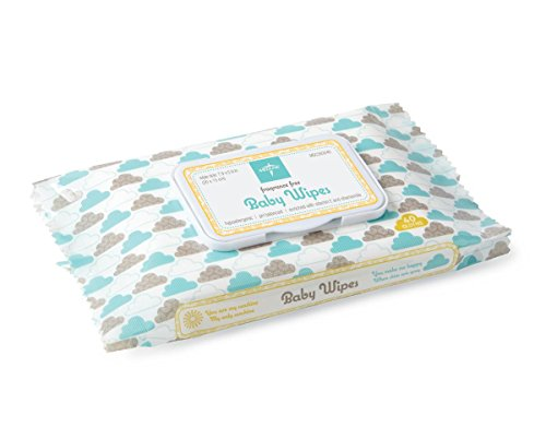 Medline AloeTouch Baby Wipes, Cleansing Cloths, 960 Count, Unscented, 8 x 6 inch Baby Wipes ()