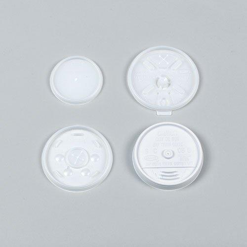 Dart Plastic Cold Cup Lids, 24oz, Translucent (Case of 500)