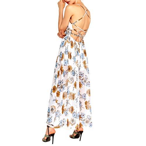 14889ec022e9 Mosstars Vestido Largo Mujer Boho Falda Viaje de señora Bohemia ...