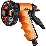 Claber 9391 Pistola Ergo Garden, Nero/Arancione/Grigio