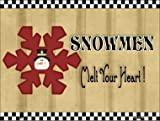 Rancho Denaro P-200 Snowflake Snowmen Metal Novelty Parking Sign