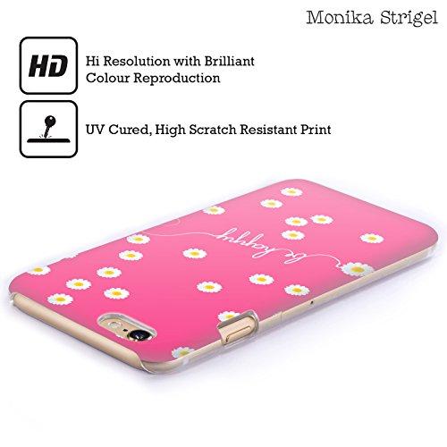 Officiel Monika Strigel Rose Chaud Pâquerette Heureuse Étui Coque D'Arrière Rigide Pour Apple iPhone 6 / 6s