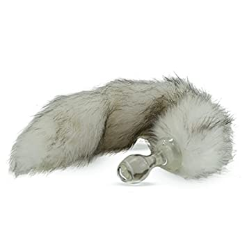 16d97a5a7b4 Image Unavailable. Image not available for. Color  Crystal Delights Faux  Fur Minx Tail Butt Plug ...