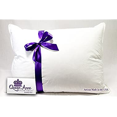Hypoallergenic Pillow - Synthetic Down Alternative (Standard Size Firm Pillow) – the Heavenly Down Allergy Pillow By Queen Anne Pillow Co. – High-end Luxury Hotel Pillows Made in the USA