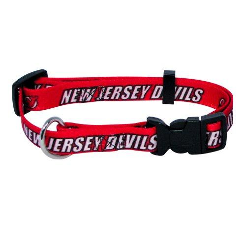 Hunter Mfg. LLP NHL New Jersey Devils Adjustable Pet Collar, Team Color, Medium