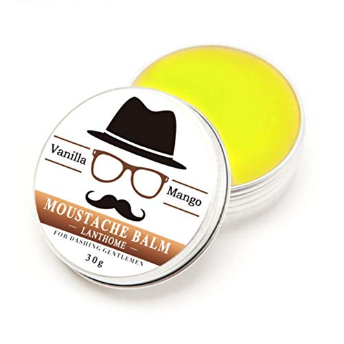 Detectorcatty Fashionable 100% Natural Organic Styling Beard Wax Tonic Moustache Balm Beeswax Moisturizing Vanilla Mango Scented