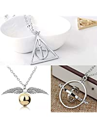 Big Kit - Colar Vira Tempo Hermione 3 Colares Harry Potter