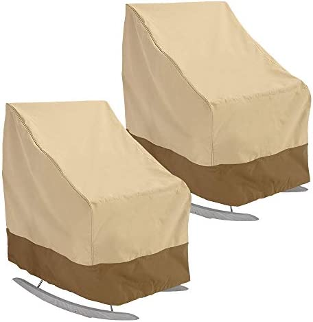 willstar Patio Rocking Chair Cover 420D Thickening Outdoor Furniture Covers Waterproof UV Resistant 2-Pack