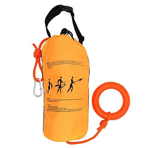 Zixar Water Rescue Throw Bag with 98 FT, 70 FT of Flotation Rope in 3/10 Inch Tensile Strength Rated to 1844lbs, Throwable Flotation Device for Kayaking and Rafting, Safety Equipment for Raft and Boat