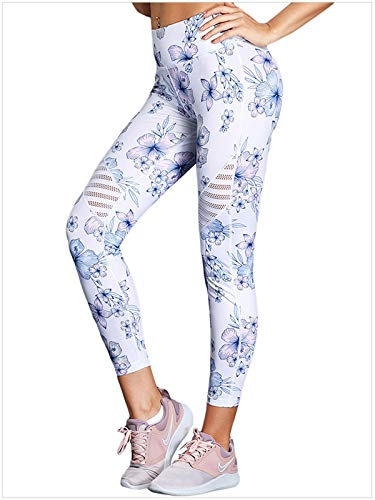 Onlyoustyle Lungo Sportivi Matita da da Leggings Stampa Bianca Jogging Donna da Yoga Rete Fitness Pantaloni Moda Pants Pesca Casual Traspirante Pantalone Cucitura Skinny Fwr6FX