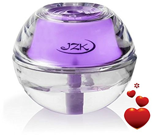 Sore Throat Allergies Cold (Air Humidifier for Home, Room, Office, Bedroom, Travel, Desk, Table, Nightstand | Mini Portable Personal Diffuser with Lavender Night Light by JZK with Auto Shut-off, USB Cable, Adapter, Filter)