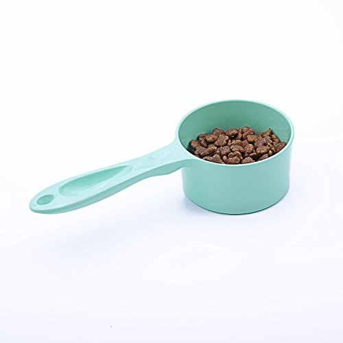 SuperDesign 1/2 Cup Food Scoop, for Bird, Cat or Dog Food, Small, Light Green