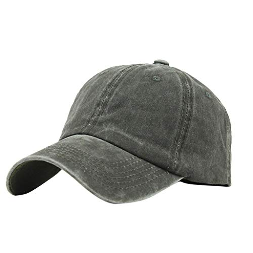 Benficial Ponytail Hat Baseball Cap for Women Novelty Messy High Bun Trucker Hat Ponycaps Plain Baseball Visor Cap Green