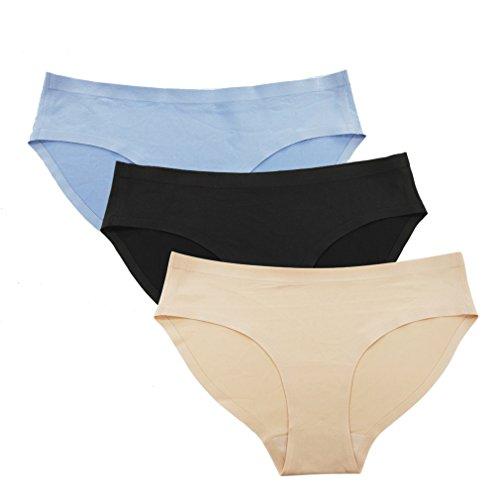 CLOSKIN Women's 3 Pack Panties Seamless Hipster Brief Spandex Underwear Size 6