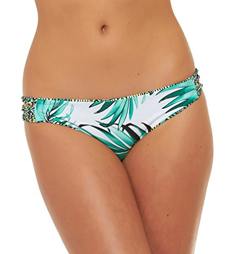 Body Glove Junior's Tropical Reversible Beachy Bikini Bottom, Lagoon, Small