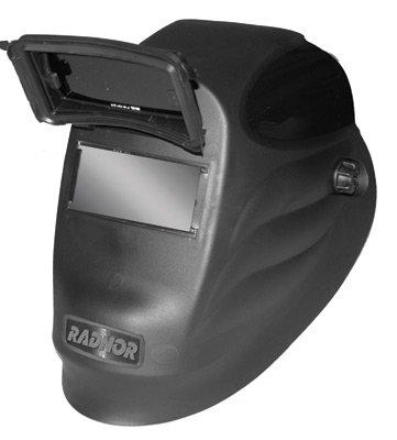 "Radnor 64005109 Lift Front Welding Helmet with 2"" x 4 1/4"" Shade 10 Passive Lens, Black"