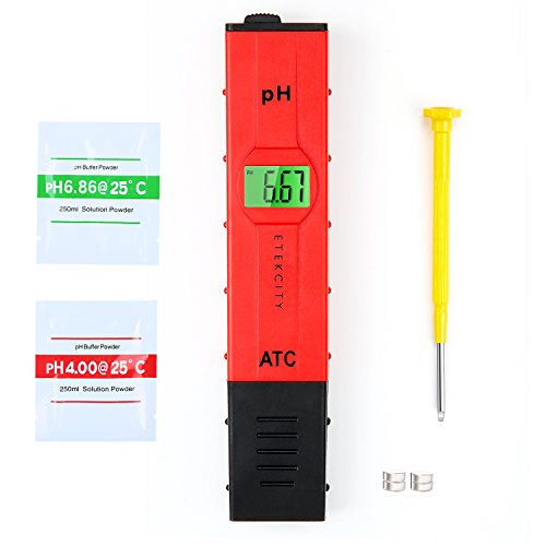 Etekcity High Accuracy Pocket Size Handheld pH Meter Pen Tester, Red (Best Science Fair Projects For 9th Grade)