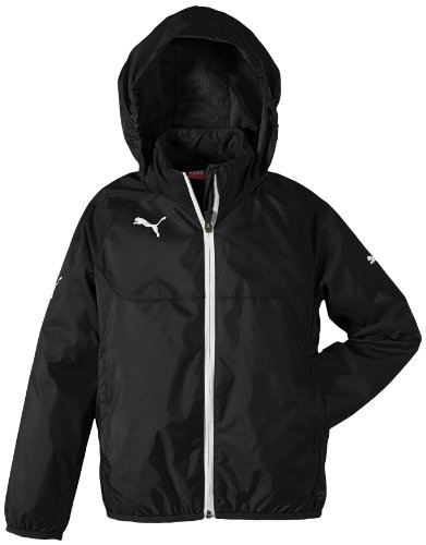 PUMA Kinder Jacke Rain Jacket, black-white, 152, 653968 03