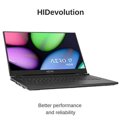 Compare HIDevolution Gigabyte AERO 17 HDR XA-9US4130SQ (A17-XA-9US4130SQ-HID8) vs other laptops