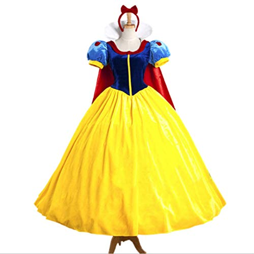 Mitef Halloween Fairy Story Classic Snow White Princess Costume for Women,