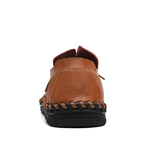 Lakerom Hommes Mocassins Chaussures Pour Hommes Slip On Shoes Chaussures En Cuir Casual Brown Brown1