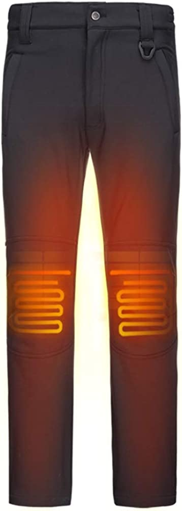 DEWBU Heated Pants with 7.4V Battery Pack Outdoor Electric Heating Trousers