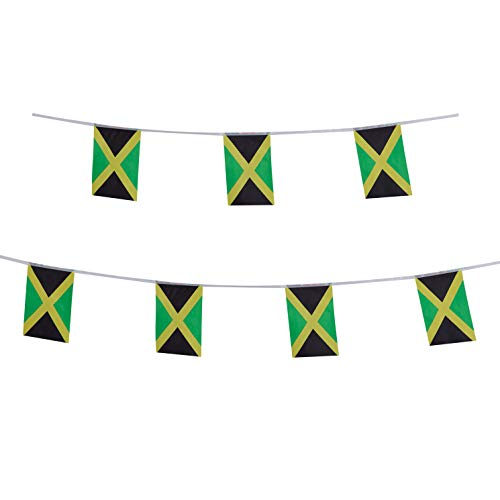 LoveVC Jamaica Flag, 100 Feet Jamaican Flag National Country World Pennant Banner Flags,Party Decorations for Olympics,School Sports Events,International Festival Celebration