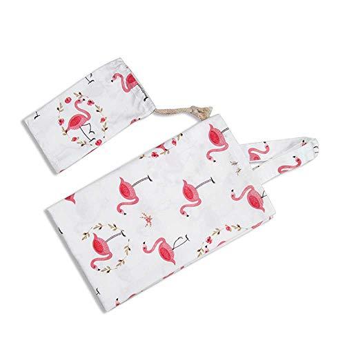 Breastfeeding Towel, DokFin 100% Cotton Soft Breathable Feeding Nursing Shawl Cover, Lightweight Privacy Feeding Shawl with Storage Bag, Full Coverage, Adjustable Strap for Women ()