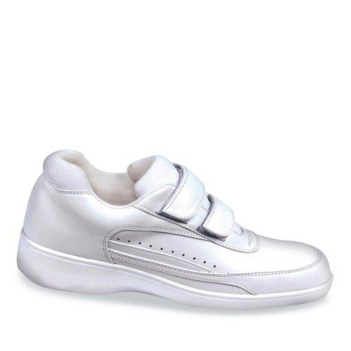 Aetrex Women's Ambulator 2 Strap Active Walker Walking Shoes,White Leather,5.5 XW US