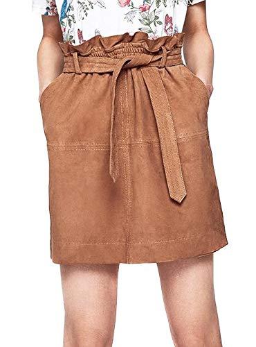 Pepe Jeans Falda Vivian Piel Camel Mujer XS Camel: Amazon.es: Ropa ...