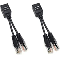 WT-MMF-RJ45   Ethernet Cable Combiner/Splitter Kit - Combines Two Power and 10/100 Data (POE) Lines on One Ethernet Cable