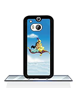 Cute Funda Case for HTC One M8 Jasmine And Aladdin Extra Thin Slim Dust Proof High Impact Hard Plastic Customized