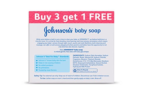 3 x 100g + 1 free - Johnson's Baby Soap