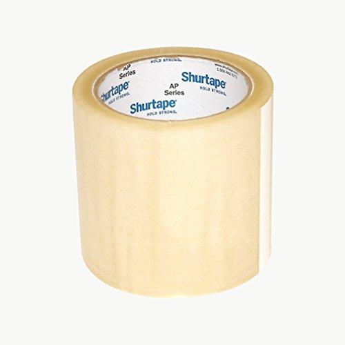 Cinta de protección de etiquetas Shurtape AP-015: 4 pulg. X 72 yardas. (Claro)