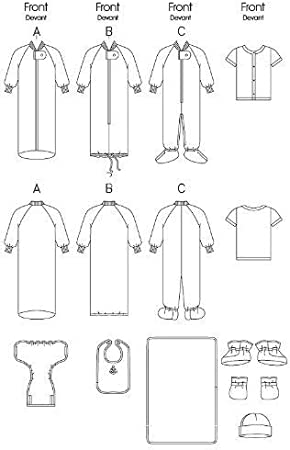 Jacket McCall Pattern Company M7827YA5 Babys Bunting Sizes S-XL Vest and Beanie Sewing Patterns Pants