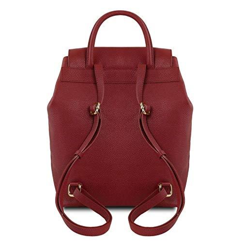 Hombro Para Leather Tl141706 De Compact Al Mujer Cuero Tuscany Bolso Rojo HOaI6q