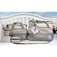 SoHo - Sage Diaper bag with changing pad 8 pieces set