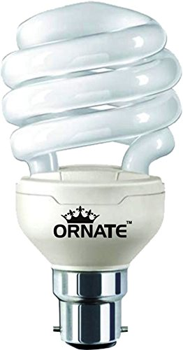 Ornate 27W B22 CFL Bulb (White, Pack of 2) Image